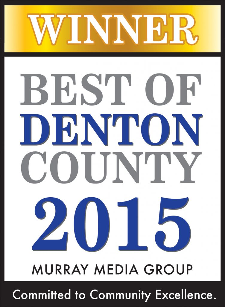 Best of Denton County 2015 Award