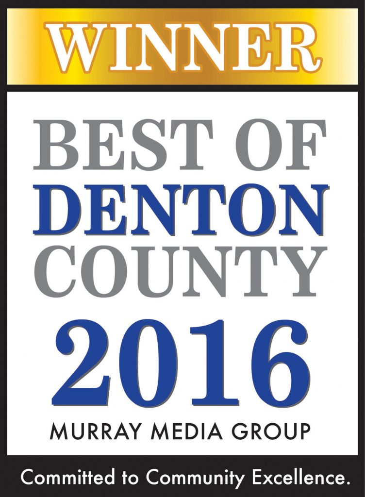 Best of Denton County 2016 Award